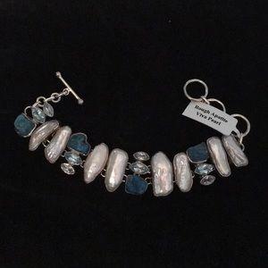 925 Sterling silver 8 inch adjustable bracelet,